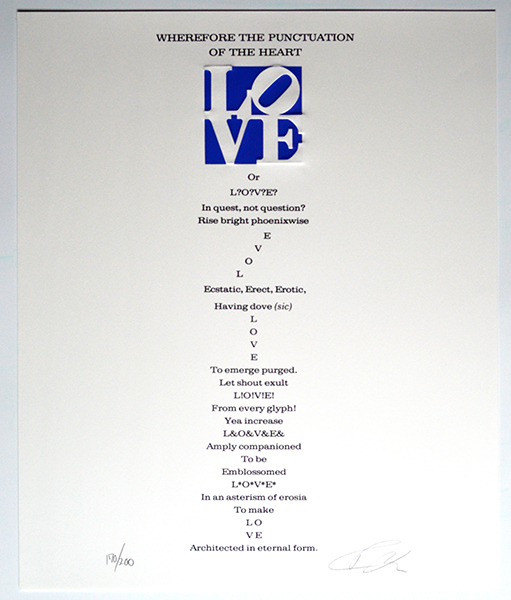 Robert Indiana Love Poem