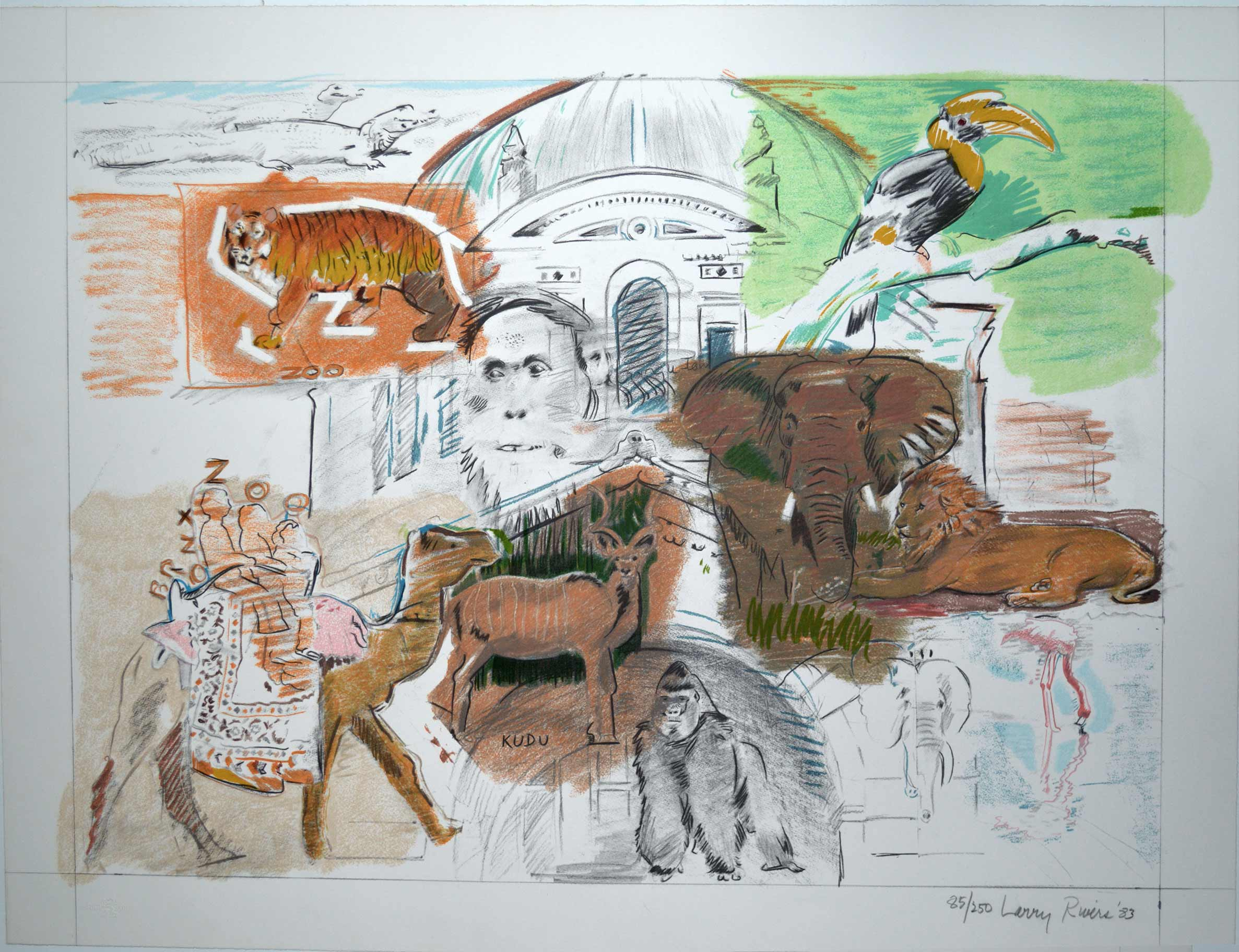 Larry Rivers Bronx Zoo Online Art Auctions Contemporary Artworks