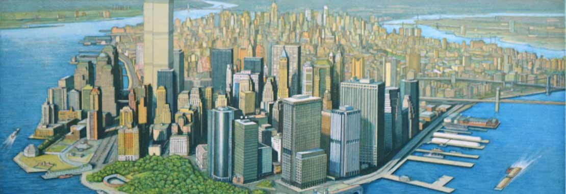 Richard Haas Manhattan View Art Auction